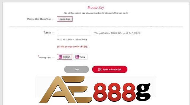 Nạp tiền thông qua ví điện tử Zalo pay - Momopay