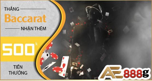 Thắng Baccarat nhận thêm 1000k tiền thưởng