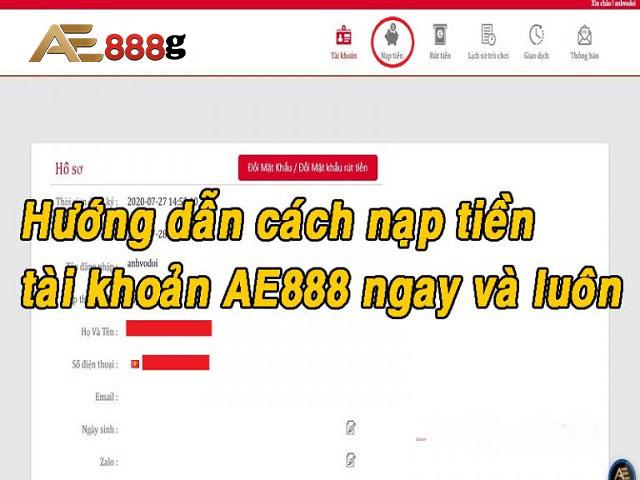 Nạp tiền tại nhà cái AE888 không thành công do sai tài khoản